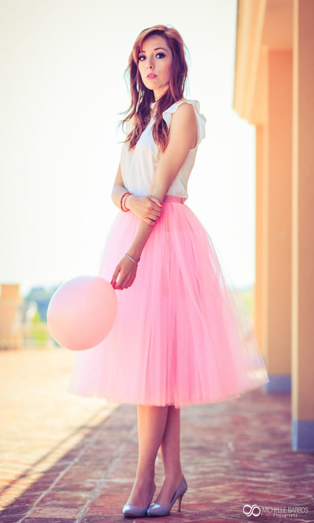 pink, pink tulle skirt, elisa bellino, theladycracy.it, fashion blog italia,ò