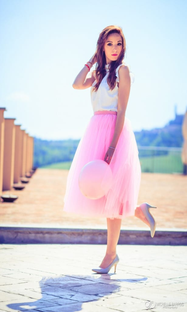 pink, pink tulle skirt, elisa bellino, theladycracy.it, fashion blog italia, °