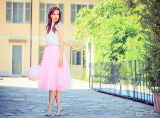 pink, pink tulle skirt, elisa bellino, theladycracy.it, fashion blog italia, )