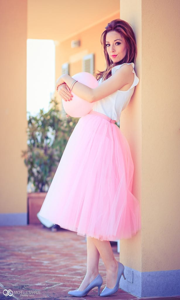 pink, pink tulle skirt, elisa bellino, theladycracy.it, fashion blog italia,,