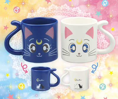 luna artemis sailor moon cup