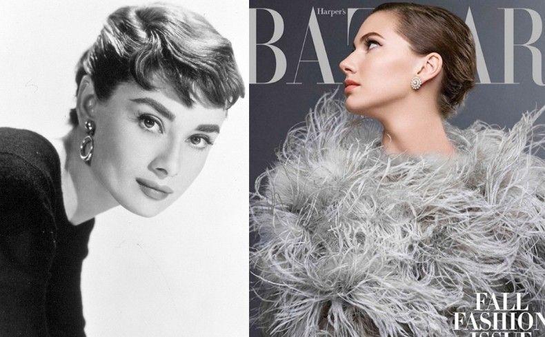La nipote di Audrey Hepburn sulla copertina di Harper's Bazaar,Audrey Hepburn Emma Ferrer www.theladycracy.it