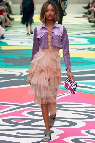 LFW, THELADYCRACY, ELISA BELLINO, PAILLETTES, TULLE DRESS, PINK TULLE, BURBERRY PRORSUM