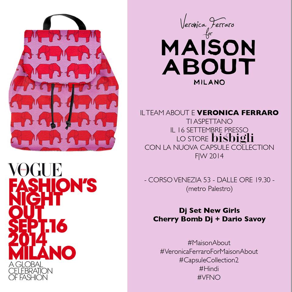Vogue Fashion Night Out Milano, mfw, eventi inviti fashion week milano, elisa bellino
