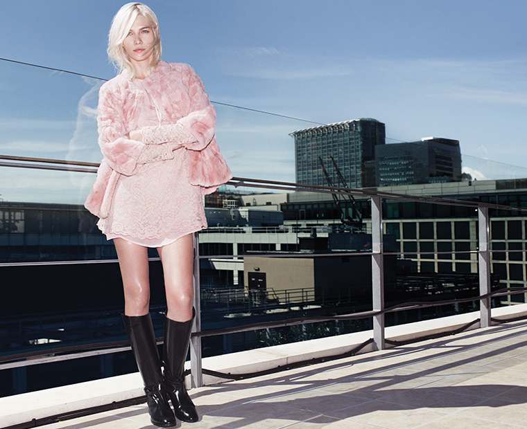 twin set a/i 2014/15 collection , pink dress, black boots, pink fur, elisa bellino, theladycracy. twin set blogger