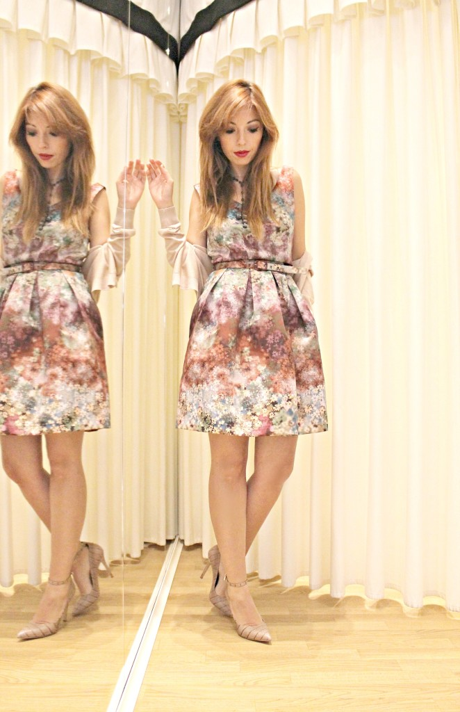 floral dress, twin set simona barbieri, impressionisti, monet storia, monet frasi, total look twin set, flora print, elisa bellino, theladycracy, fashion blogger milano, fashion blog. fashion, floral outfit, scarpe twin set,