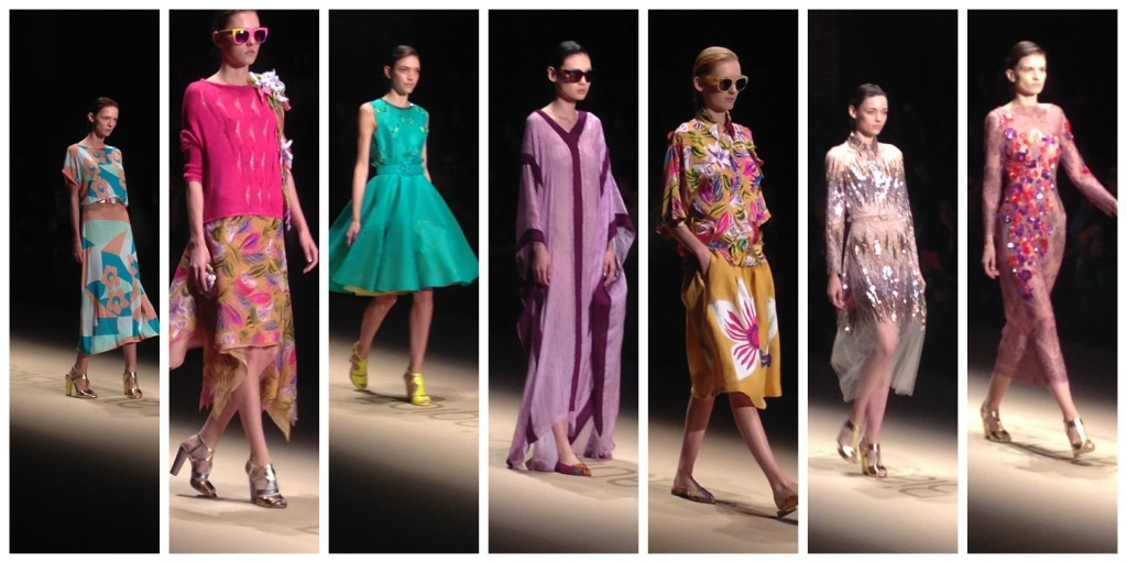 laura biagiotti, giacomo balla, mfw pe2015, moda e futurismo, abiti anni '50, paillettes dress, milanfashionweek fashion show