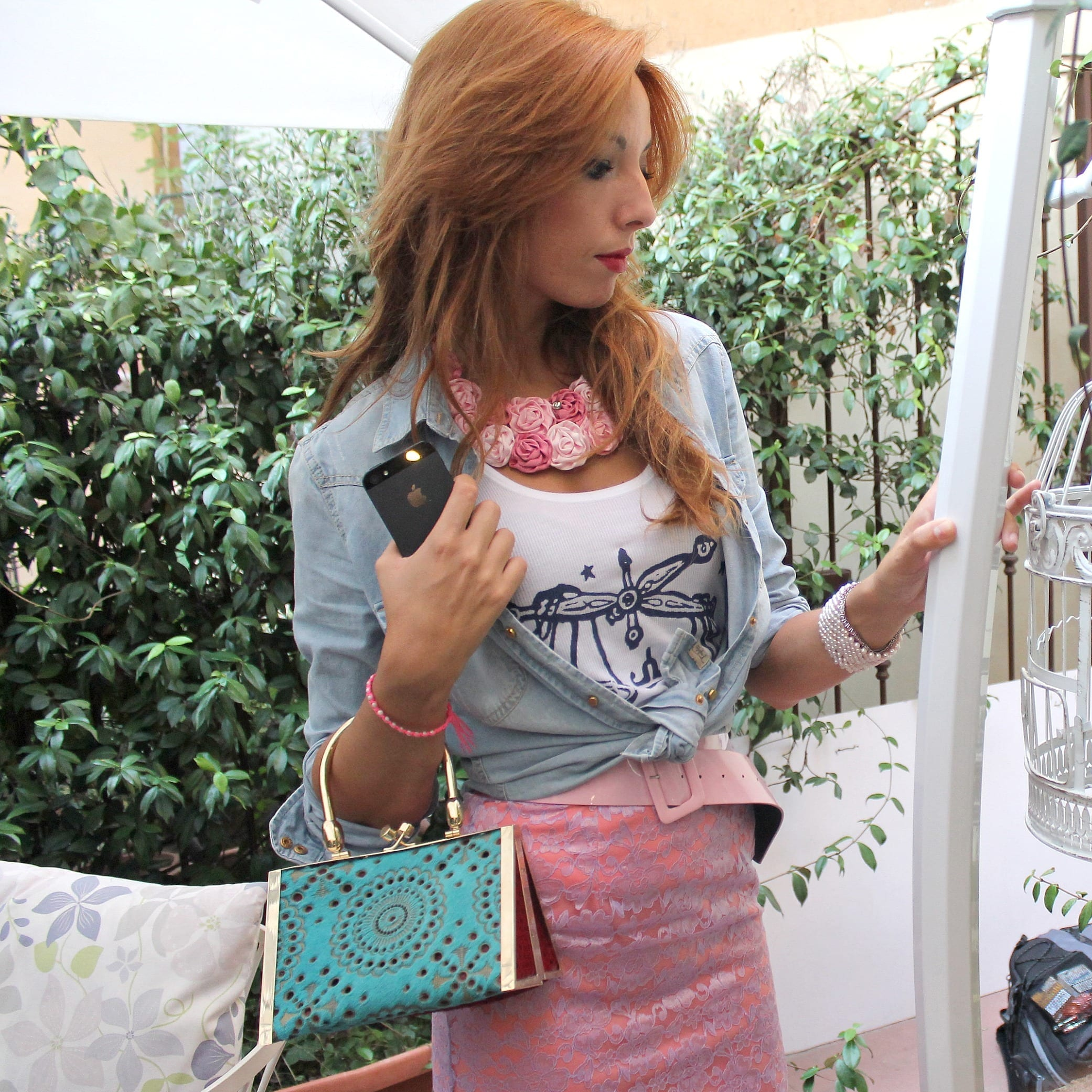vitussi bag. made in italy, fashion news, fashion trends, mfw, theladycracy, elisa bellino, pink skirt, pink lace skirt, luxury bag, fashion bloggers milano, fashion blog