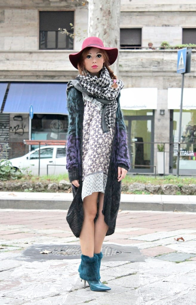 fashion editorial, look manila grace, Death Becomes Her, met museum, new york, milano outfit, fashion bloggers italy, fashion blog milano, elisa bellino, manila grace cardigan, manila grace vestito, ootd, outfit of the day, theladycracy, chanel quotes, fashion quotes, frasi coco chanel, boy capel, fluffy shoes, silk dress, maxy cardigan, maxi scarf, sciarpe manila grace,