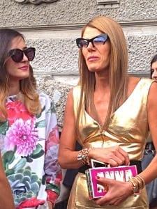 ANNA DELLO RUSSO, GOLD DRESS, ELEONORA CARISI, PRADA FASHION SHOW