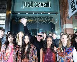 just cavalli flagship store new york, roberto cavalli, tableaux vivant, miranda kerr, elisa bellino