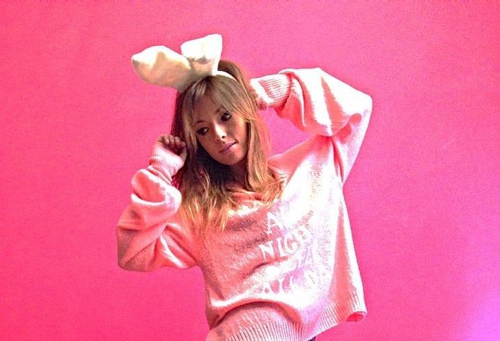 ELISA BELLINO, fashion lady, pink life, think pink, wildfox couture, bunny ears, leggins, ishikawa, bunny lovers, rabbit ear, girly look, ootd, theladycracy, kawaii, fashion blog milano