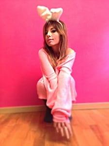 ELISA BELLINO, fashion lady, pink life, think pink, wildfox couture, bunny ears, leggins, ishikawa, bunny lovers, rabbit ear, girly look, ootd, theladycracy, kawaii, fashion blog milano, pink sweater