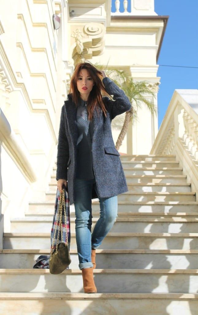 elisa bellino ottodame outfit prada bag www.theladycracy.it 6,ottodame blouse, ottodame coat, prada bag, jeans stradivarius,  sarah jessica parker, boots