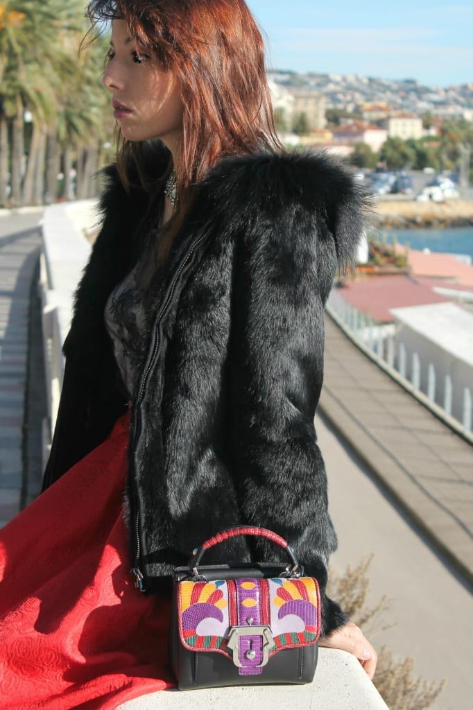 ELISA BELLINO www.theladycracy.it 15,ELISA BELLINO www.theladycracy.it 2, red skirt choies, fur compagnia italiana, top intimissimi, shoes stradivarius, bag dun dun paula cademartori,fashion editorial