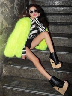 fluo faux fur www.theladycracy.it