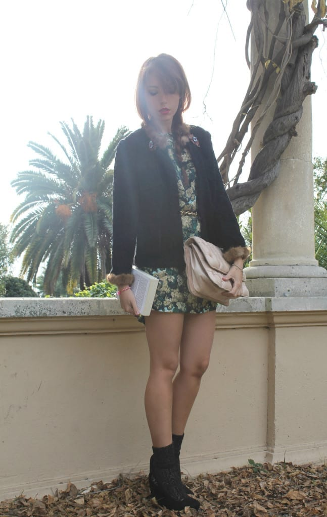 ELISA BELLINO , shirtaporter look, benedetta bruzziches bag, flower print, mini dress, Joan Didion, celine, Joni Mithcell saint laurent, www.theladycracy.it