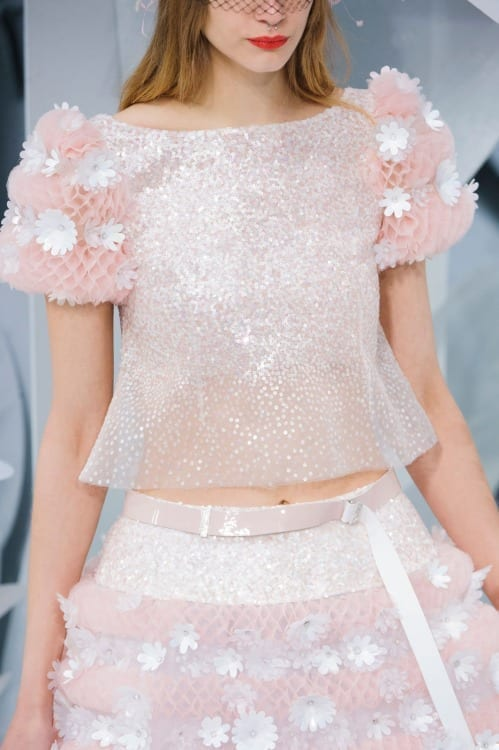 paris haute couture, fashion news, best fashion dress 2015, luxury dress, chanel haute couture ss 2015, www.theladycracy.it, sequined, sparkling dress, pink