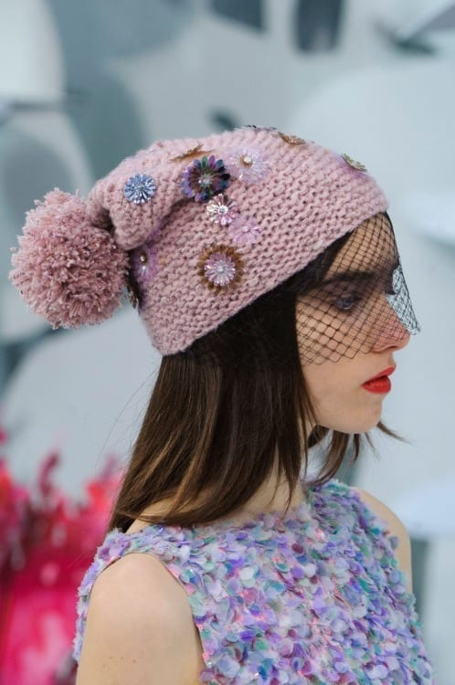 paris haute couture, fashion news, best fashion dress 2015, luxury dress, chanel haute couture ss 2015, www.theladycracy.it, beanie chanel, veil beanie