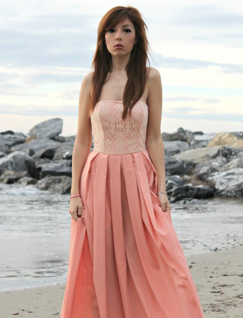 isabel garcia dress, luxury dress, pret a porter, romantic dress, peach dress, lond dress, inspirations pics, elisa bellino, fashion editorial, theladycracy.it, fashion blog, Sanremo, Festiva di Sanremo