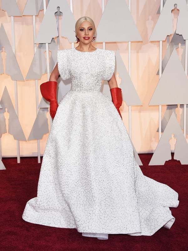 ladygaga-oscar2015,theladycracy.it , vestiti da red carpet, the worst dressed , celebrity style, oscar 2015 dresses,