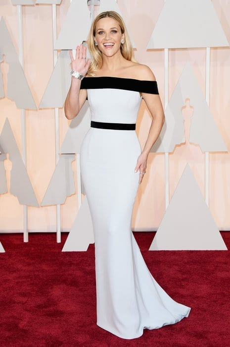 reesewitherspoon-oscar2015, tom ford,theladycracy.it , vestiti da red carpet, the worst dressed , celebrity style, oscar 2015 dresses,