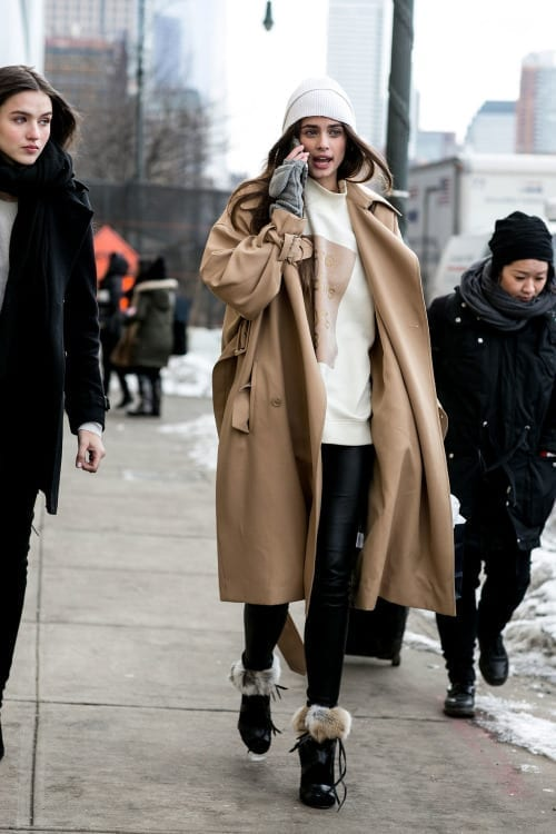 come ci si veste durante la fashion week, fur trend, street style, biker boots, elisa bellino, theladycracy.it, mfw 2015, camel coat