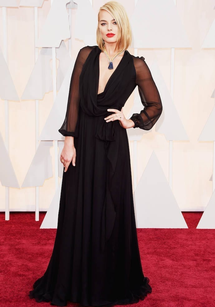 style-margot-robbie-oscars-2015,theladycracy.it , vestiti da red carpet, the worst dressed , celebrity style, oscar 2015 dresses,