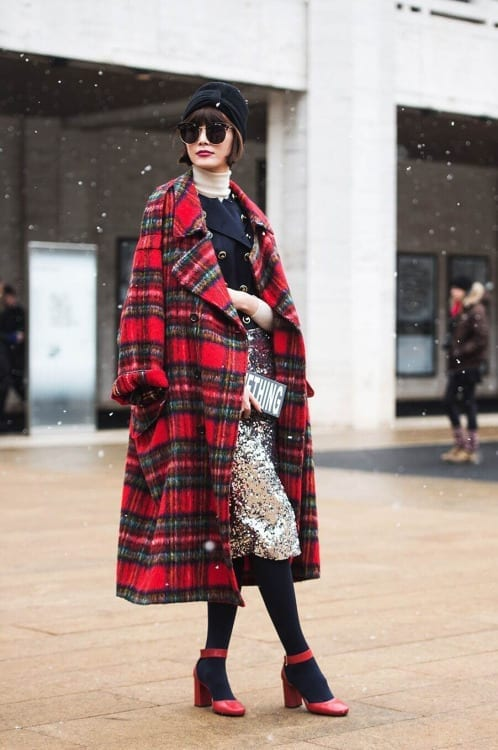 come ci si veste durante la fashion week, fur trend, street style, biker boots, elisa bellino, theladycracy.it, mfw 2015, tartan long coat