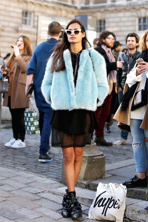 come ci si veste durante la fashion week, fur trend, street style, biker boots, elisa bellino, theladycracy.it, mfw 2015,