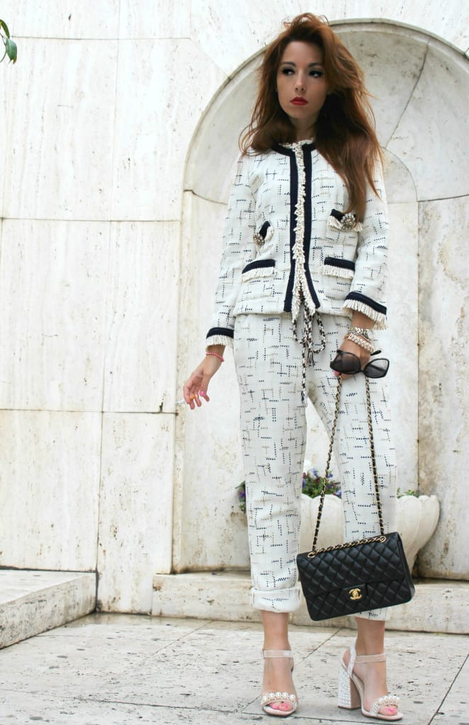 14 elisa bellino outfit of the day fashion outfit chanel shirt a porter