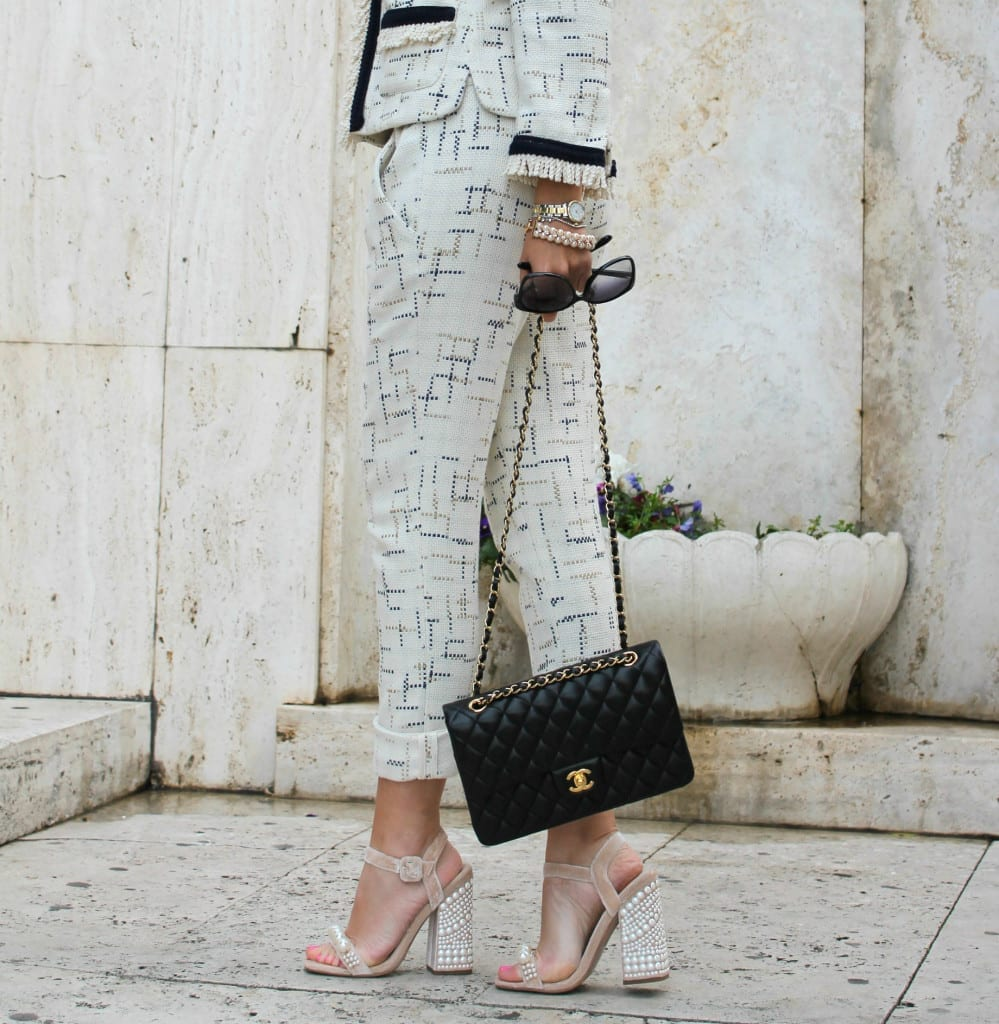 16 elisa bellino outfit of the day fashion outfit chanel shirt a porter