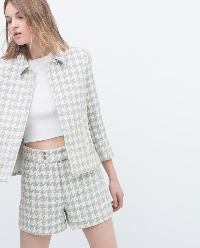 Bermuda e blazer pied de poulle zara,shopping zara, ponte primo maggio shopping, outfit inspirations,t theladycracy.it,zara shop online