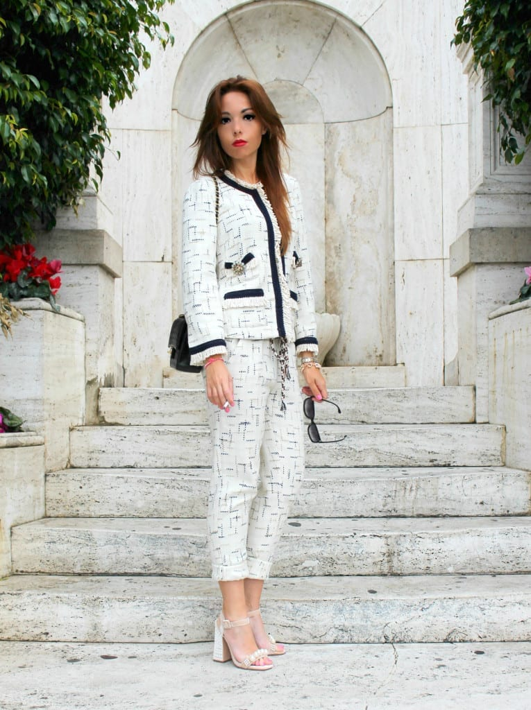2 elisa bellino, outfit of the day, fashion outfit, chanel, shirt a porter, tailleur chanel, 2.55 chanel timeless, best fashion blogger italy, fashion blog italia, fashion blogger italia, theladycracy.it, elisa bellino