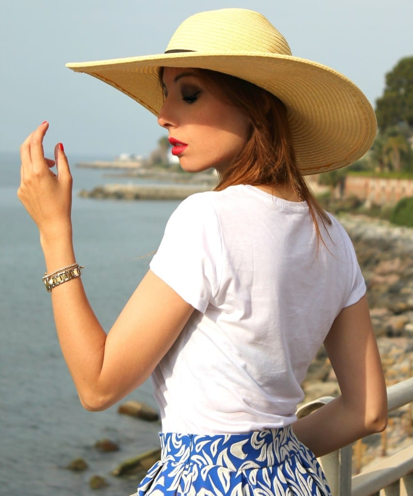 come si fa a diventare fashion blogger, midi skirt blue and white, summer outfit, fashion editorial, theladycracy.it , department five skirt, gonne a ruota anni 50, elisa bellino, fashion blog italia,