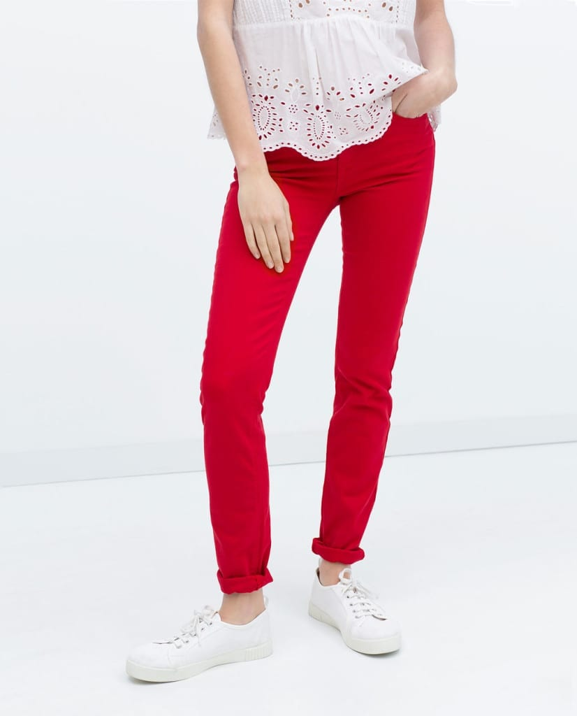 skinny pants red zarashopping zara, ponte primo maggio shopping, outfit inspirations,t theladycracy.it,zara shop online