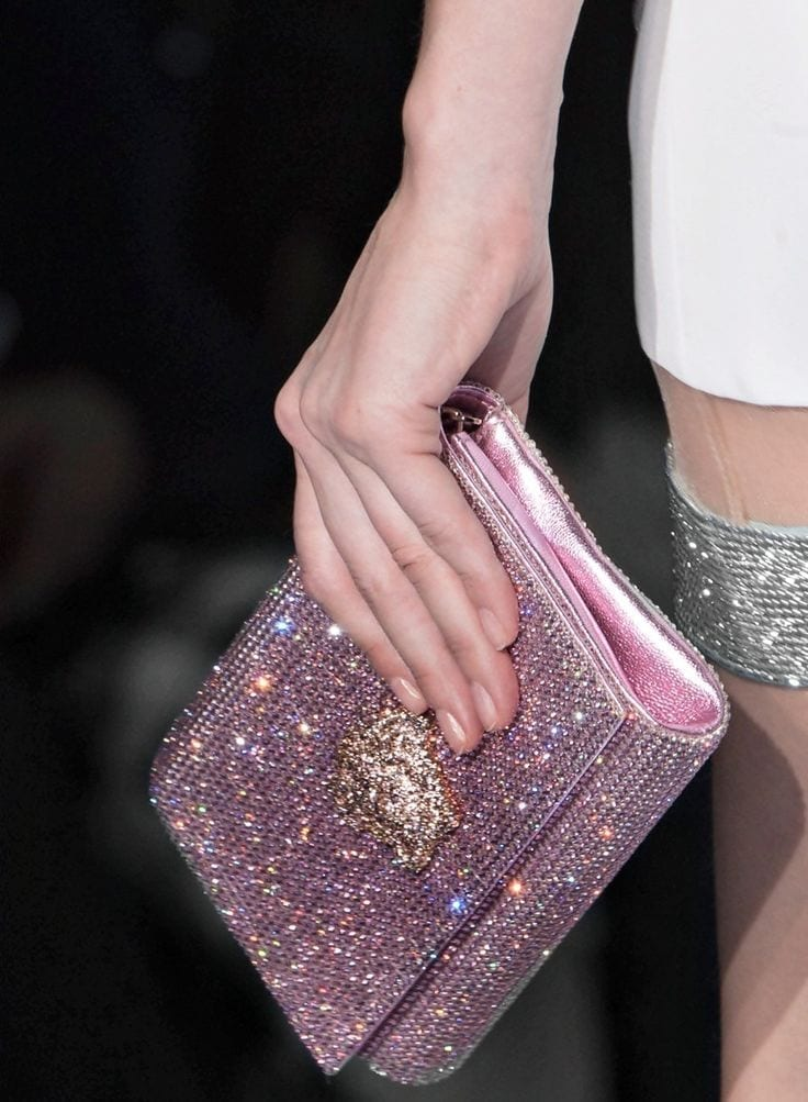 tendenze estate 2015, theladycracy.it, elisa bellino, fashion blog italia, fashion blogger italia, sparkly trend, versace clutch
