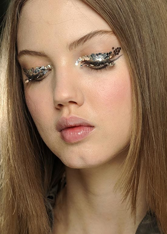 Chanel-FW2013-Runway-Make-Up-Glittery-Eyes,make up occhi, elisa bellino, fashion blog italia, fashion blogger italia