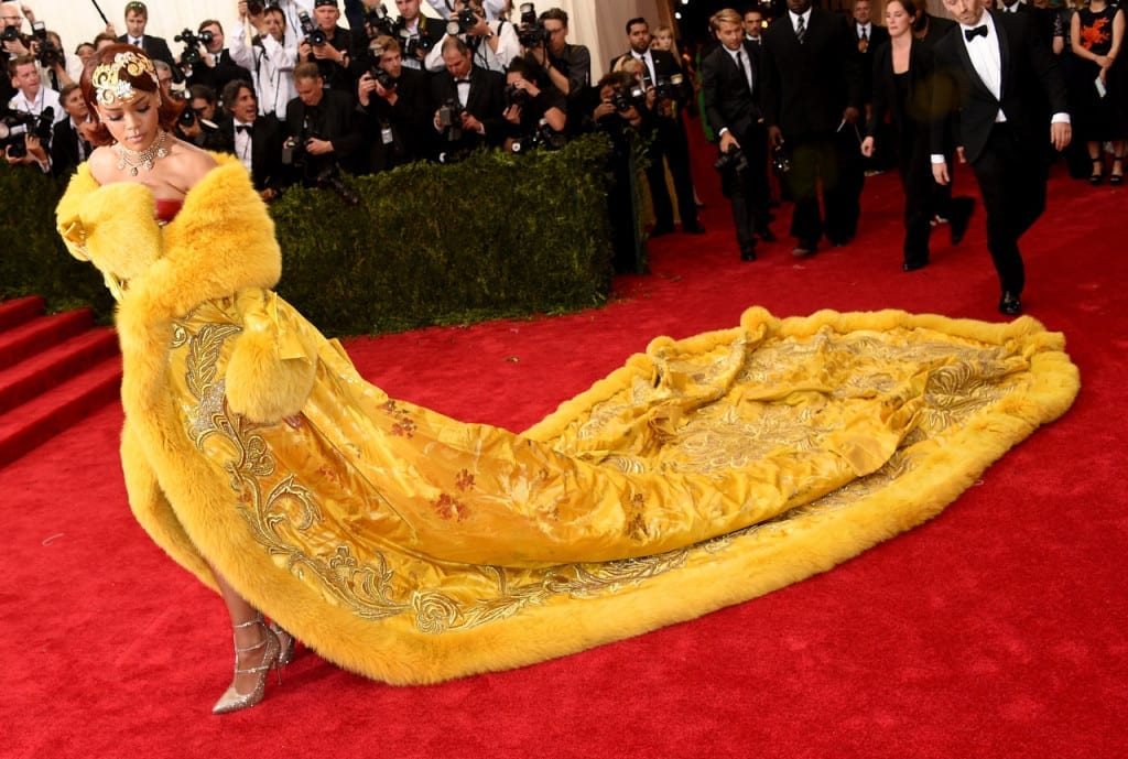 Rihanna met ball 2015 dress