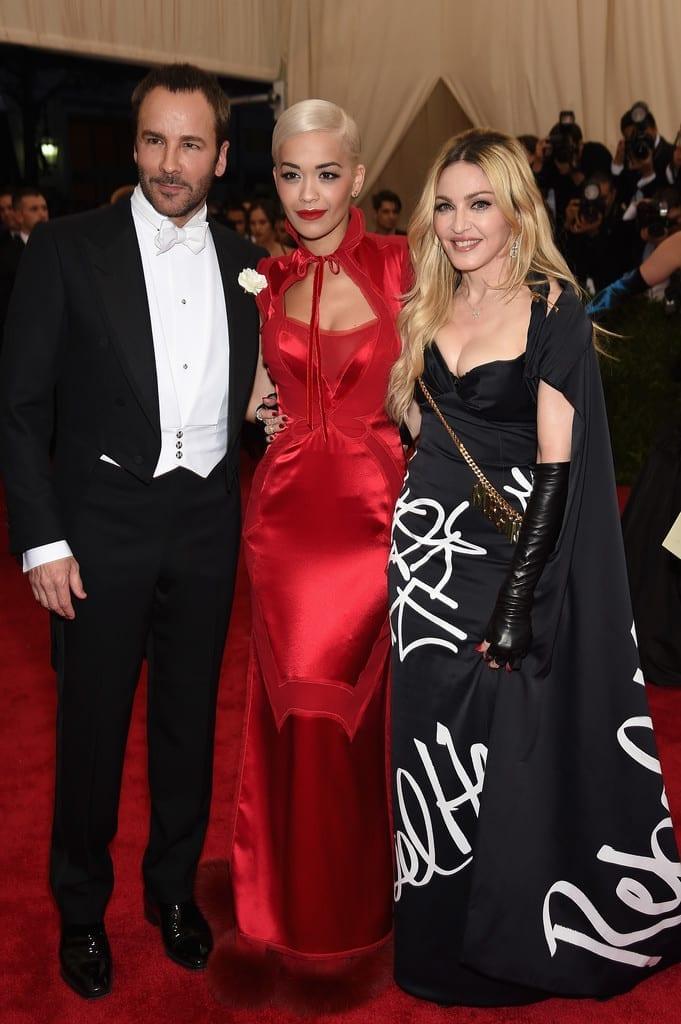 Rita Ora Tom Ford Madonna Met Bal 2015