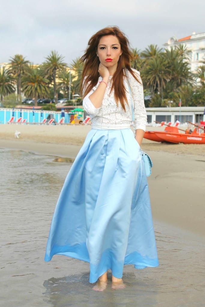 cinderella skirt asos outfit mango lace top theladycracy.it elisa bellino fashion editorial 5