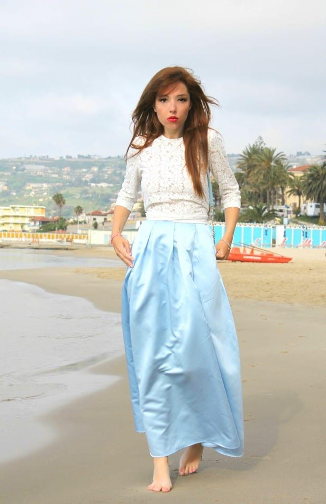 cinderella skirt asos outfit mango lace top theladycracy.it elisa bellino fashion editorial