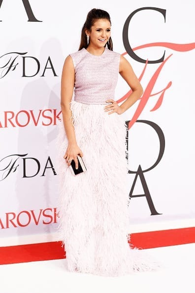 2015 CFDA Fashion Awards nina dobrev, lela rose dress
