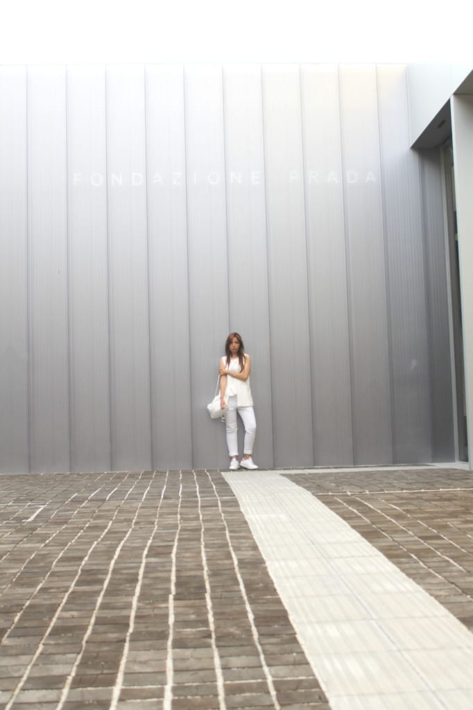 total white look, fondazione prada milano, theladycracy.it, fashion blog italia, fashion blogger italia, elisa bellino,