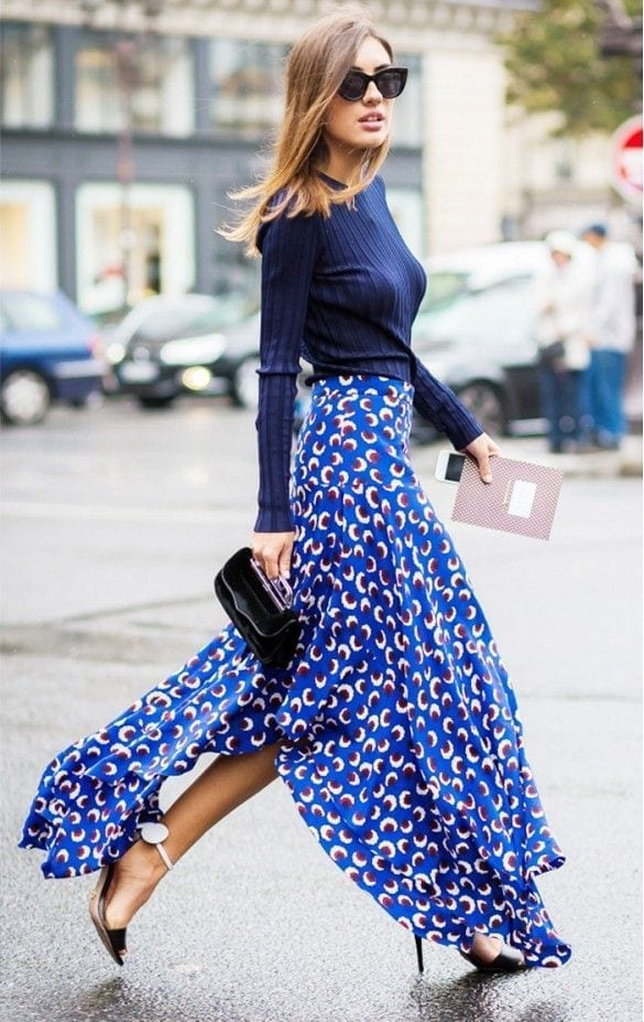 long skirt blue come si nasconde la cellulite,theladycracy.it, fashion blog italia, fashion blogger italy, tendenze moda 2015