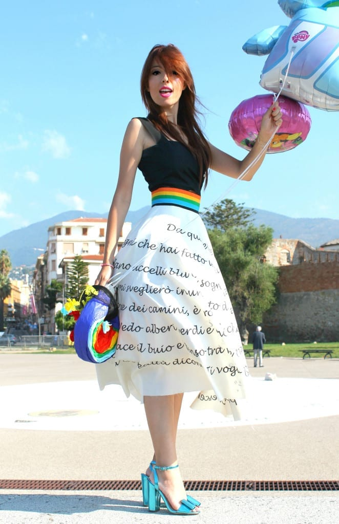 mini pony anni 80, elisa bellino, theladycracy.it, fashion blogger italia, fashion blog italia, fashion outfit, luisa via roma, rainbow party, giorgio moroder, best fashion blogger italy, fashion editorials