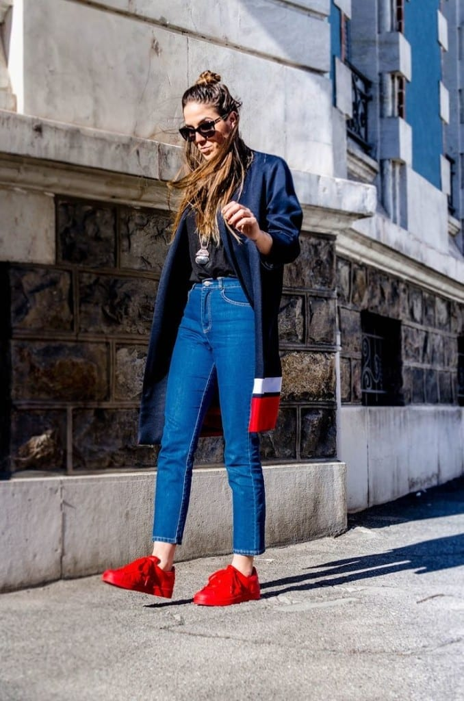 sneakers 2015 - best fashion blogger italy- fashion blog italia- fashion blogger italia- theladycracy.it - superstar adidas red, elisa bellino, best fashion blogger italy