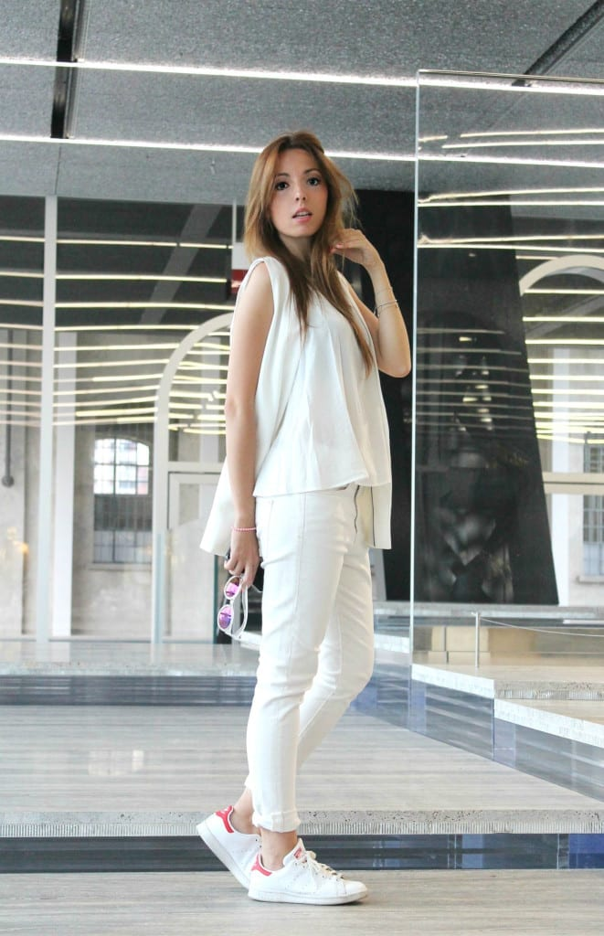 total white look, fashion blog italia,total white outfit, ootd, fashion blogger italy, best fashion blog italy, elisa bellino, fondazione prada, milano outfit, theladycracy.it, fashion editorial