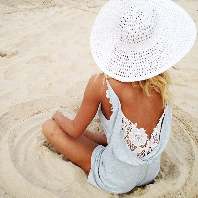 look da spiaggia 2015, boho chic, all white look, theladycracy.it, fashion blog italia, come vestirsi per il mare, come vestirsi in estate,