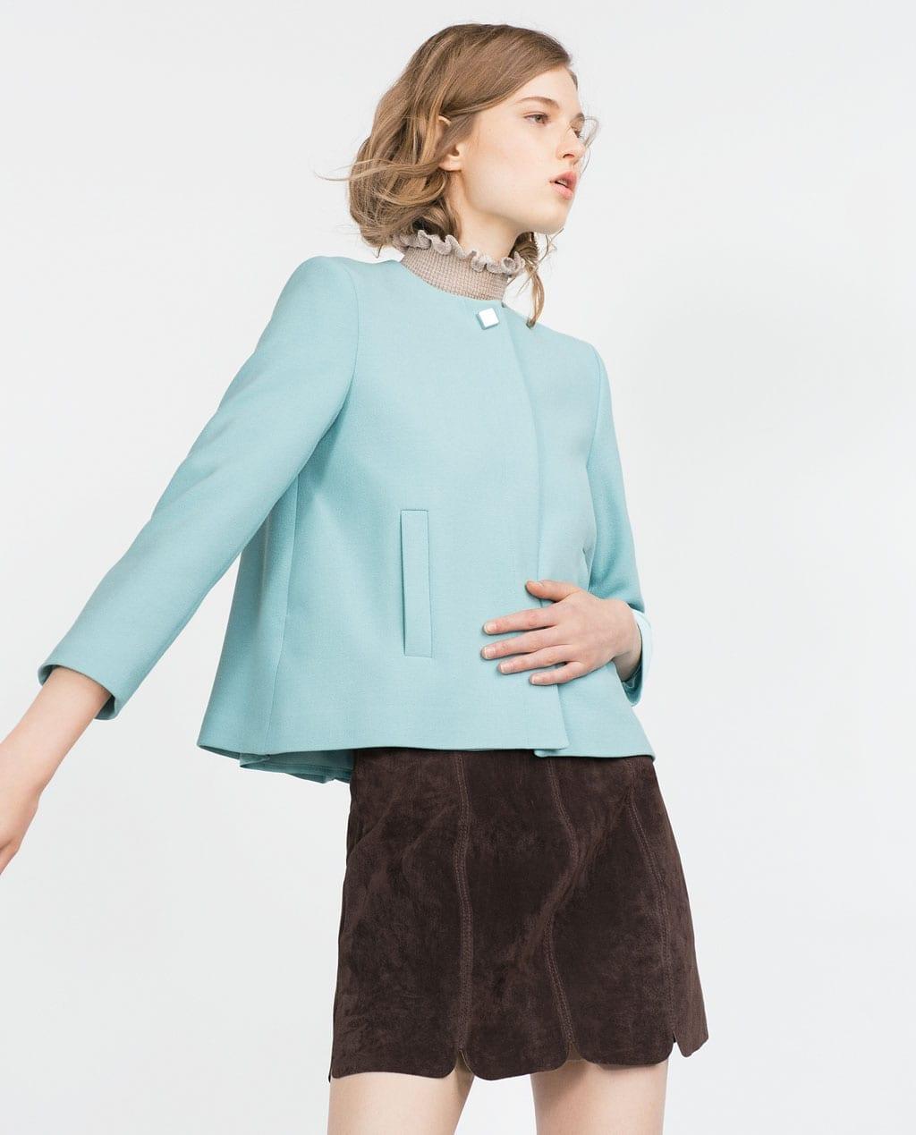 cosa mi metto domani per andare a lavoro, theladycracy.it, giacca pastello azzurra zara fall 2015, fashion blogger italia